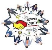 Klient lojalności Usługowego poparcia opieki zaufania Przypadkowy pojęcie Obrazy Stock