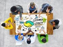 Klient lojalności Usługowego poparcia opieki zaufania Przypadkowy pojęcie Zdjęcie Royalty Free