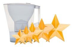 Klient ocena miotacza wodny filtr, pojęcie ?wiadczenia 3 d royalty ilustracja