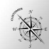 Klient pisać na boku kompas Obraz Stock