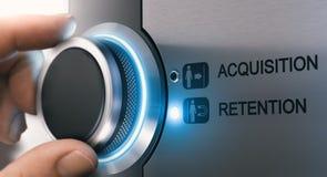 Klient retencji i nabycia pojęcie zdjęcia stock