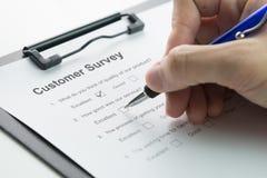 Klient satysfakci ankieta zdjęcia stock