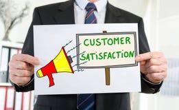 Klient satysfakci pojęcie pokazywać biznesmenem zdjęcie stock