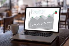 Klient sprzedaży deski rozdzielczej grafika Marketingowego pojęcia Biznesowy mężczyzna obrazy stock