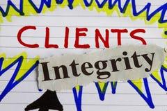 Klient und Vollständigkeit stockbilder