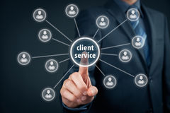 Klient usługa Obraz Royalty Free