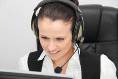 klienta żeński słuchawki operatora poparcie Fotografia Royalty Free