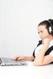 klienta żeński słuchawki operatora poparcie Zdjęcie Royalty Free