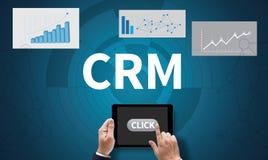 Klienta CRM zarządzania analizy poważny interes CRM Zdjęcia Royalty Free