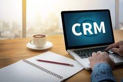 Klienta CRM zarządzania analizy poważny interes CRM Obraz Stock