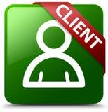 Klienta członka ikony zieleni kwadrata guzik Zdjęcie Stock