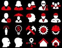 Klienta i biznesu ikony set Zdjęcie Stock