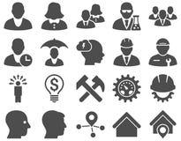 Klienta i biznesu ikony set Obrazy Stock