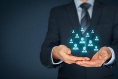 Klienta lub pracowników opieki pojęcie obraz stock
