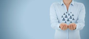 Klienta lub pracowników opieki pojęcie Zdjęcie Stock