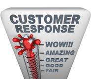 klienta odpowiedzi termometr Fotografia Stock