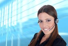 klienta operator Fotografia Stock