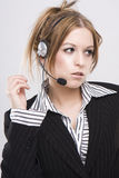 klienta operatora poparcia kobieta zdjęcie stock