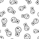 Klienta przeglądu 1 gwiazdowy bezszwowy deseniowy tło Biznesowy fla ilustracji