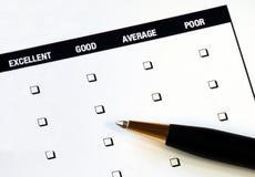 klienta satysfakci ankieta Zdjęcia Royalty Free