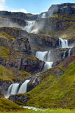 The Klifbrekkufossar waterfall Stock Photography