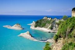Kliff at korfu. Kliff at the greek island korfu stock photography
