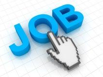 Klik aan Job Text Stock Afbeelding
