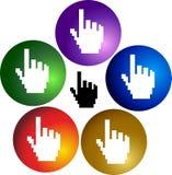 Klik handen Stock Afbeeldingen