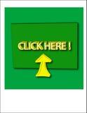 Klik hier Royalty-vrije Stock Foto's