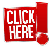 Klik hier Ontwerp Royalty-vrije Stock Afbeelding