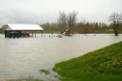 Klimaänderungen, die Flutkatastrophe verursachen lizenzfreie stockfotografie