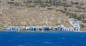 Klima村庄,芦粟海岛, Cyclades,希腊 免版税库存照片