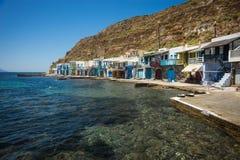 Klima美丽如画的渔村在芦粟海岛上的  库存照片
