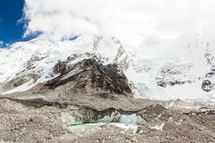 Klima Chang der globalen Erwärmung der Himalaja-Gebirgsschmelzenden Gletscher Stockfotos