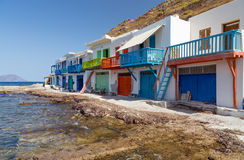 Klima fishing village, Milos island, Cyclades, Greece Stock Images