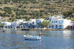 Klima fishing village. Small fishing village with tradional shelters for boats Royalty Free Stock Photography