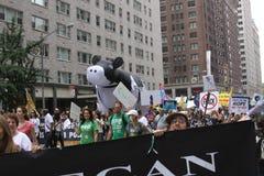 Klima März NYC 2014 Lizenzfreie Stockbilder