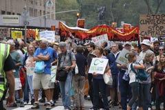 Klima März NYC 2014 Lizenzfreies Stockfoto