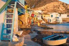 Klima, Melos, рыбацкий поселок Стоковое Изображение RF