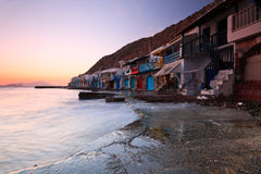 Klima, Milos island, Greece. Royalty Free Stock Photo