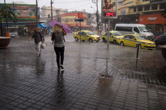 Klima: Sommer-Regen in Rio de Janeiro Stockfotos