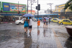 Klima: Sommer-Regen in Rio de Janeiro Lizenzfreies Stockfoto