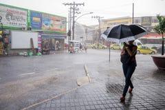 Klima: Sommer-Regen in Rio de Janeiro Lizenzfreie Stockfotografie