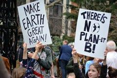 Klima-Streik-Aktionen in New York City lizenzfreie stockfotos