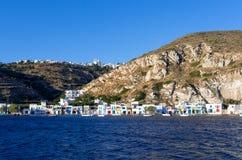 Klima village in Milos island, Cyclades, Greece Royalty Free Stock Photos