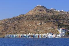 Klima village on Milos island royalty free stock photography