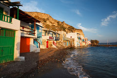 Klima village, Milos island, Greece. Royalty Free Stock Photo