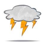 klima Wolke und Blitz Stockfotografie