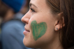 Klimaaktivist Lizenzfreies Stockbild