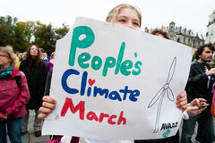 Klimaaktivisten Lizenzfreie Stockfotos